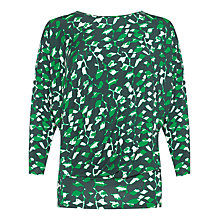 Buy allegra by Allegra Hicks Azara Top, Animal Green Online at johnlewis.com