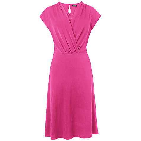 Buy Jaeger Jersey Dress, Bright Pink Online at johnlewis.com