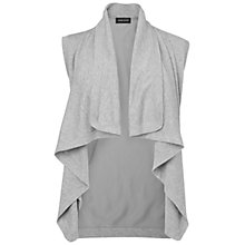 Buy Jaeger Silk Back Biker Cardigan, Grey Online at johnlewis.com