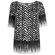 Buy Jaeger Brushstroke Top, Black Online at johnlewis.com