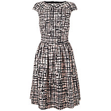 Buy Jaeger Abstract Print Dress, Pale Pink Online at johnlewis.com