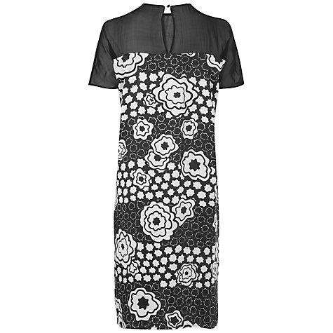 Buy Jaeger Abstract Poppy Print Dress, Black Online at johnlewis.com