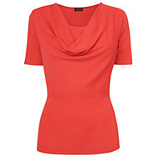 Buy Jaeger Crepe Jersey Cowl Neck Top, Pink Online at johnlewis.com