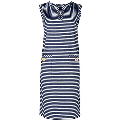 Buy Jaeger Striped Shift Dress, Blue Online at johnlewis.com
