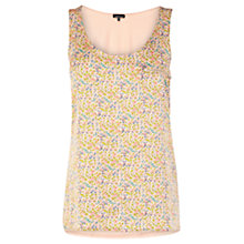 Buy Warehouse Ditsy Woven Vest, Pink Pattern Online at johnlewis.com