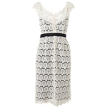 Buy Jaeger Broderie Lace Dress, Ivory Online at johnlewis.com
