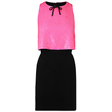 Buy Boutique by Jaeger Sequin Dress, Bright Pink Online at johnlewis.com