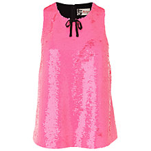 Buy Boutique by Jaeger Sequin Layer Vest, Bright Pink Online at johnlewis.com