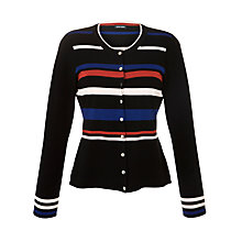 Buy Gerry Weber Stripe Silver Buttoned Cardigan, Blue Stripe Online at johnlewis.com