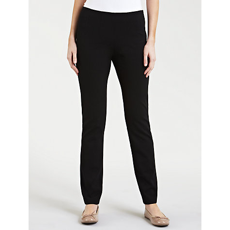 Buy Gerry Weber Side Zip Leggings, Black Online at johnlewis.com
