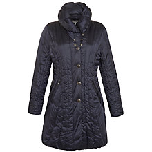 Buy Gerry Weber Long Quilted Collar Coat, Midnight Blue Online at johnlewis.com