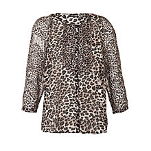 Buy Gerry Weber Chiffon Shirt, Ecru/Black Online at johnlewis.com
