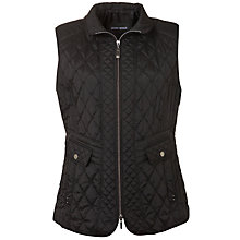 Buy Gerry Weber Quilted Gilet Jacket, Black Online at johnlewis.com