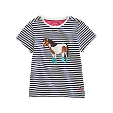 Buy Little Joule Maggie Horse Top, Navy Online at johnlewis.com