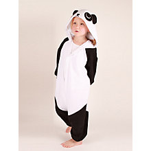 Buy Kigu Panda Onesie, Black/White Online at johnlewis.com