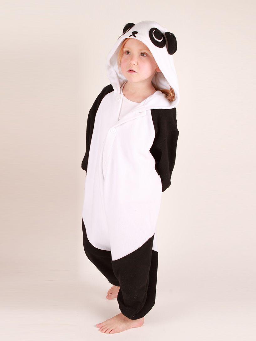 Kigu Panda Onesie, Black/White