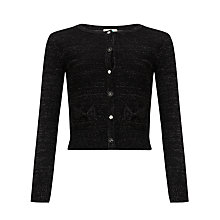 Buy Yumi Girl Long Sleeve Cardigan, Black Online at johnlewis.com