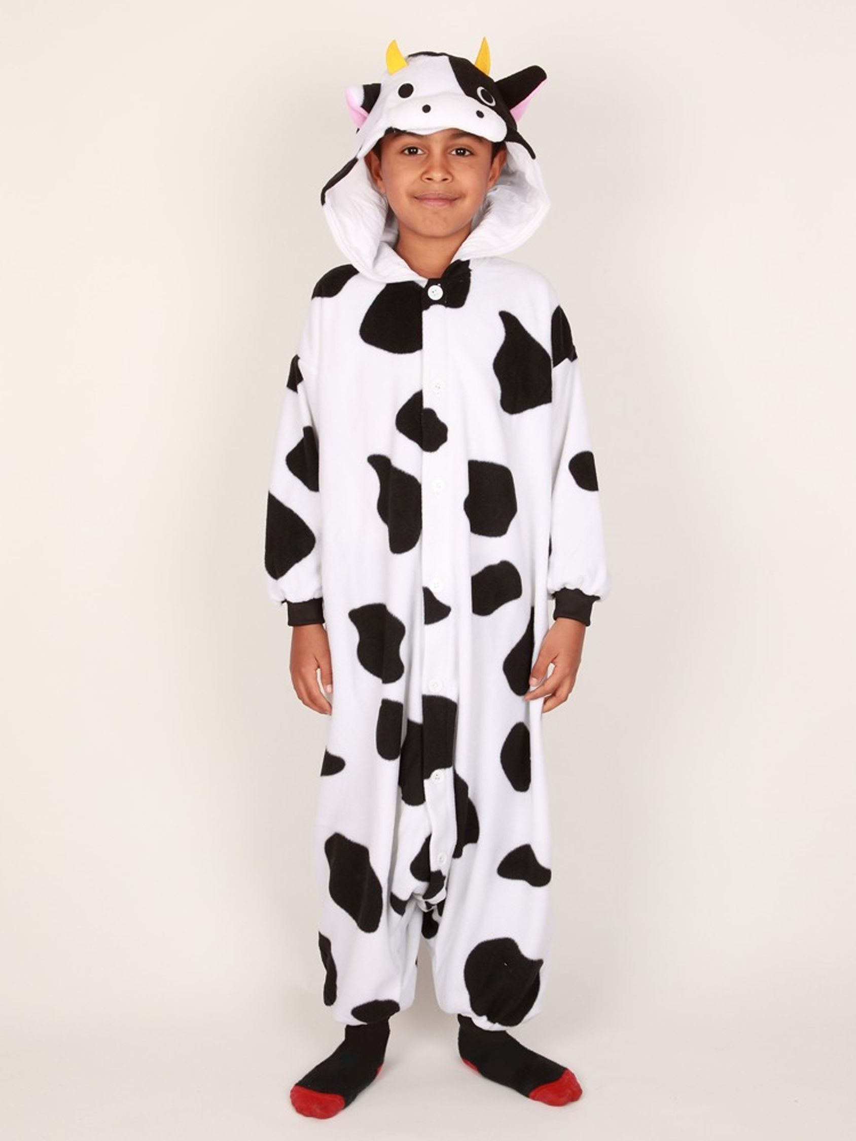 Kigu Cow Onesie, Black/White