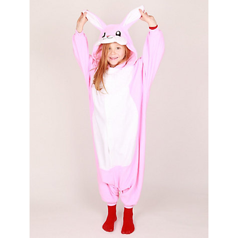 Buy Kigu Rabbit Onesie, Pink Online at johnlewis.com