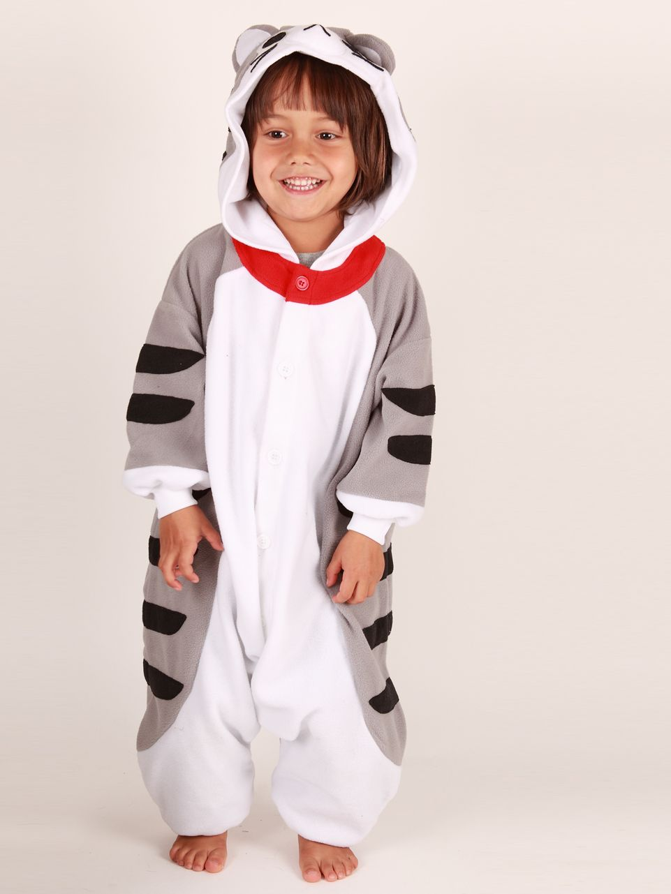 Kigu Cat Onesie, Grey