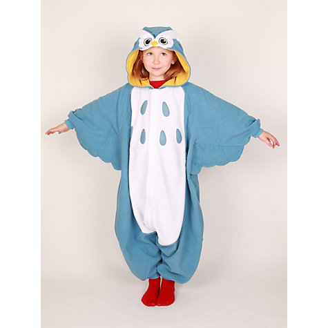 Buy Kigu Owl Onesie, Blue Online at johnlewis.com