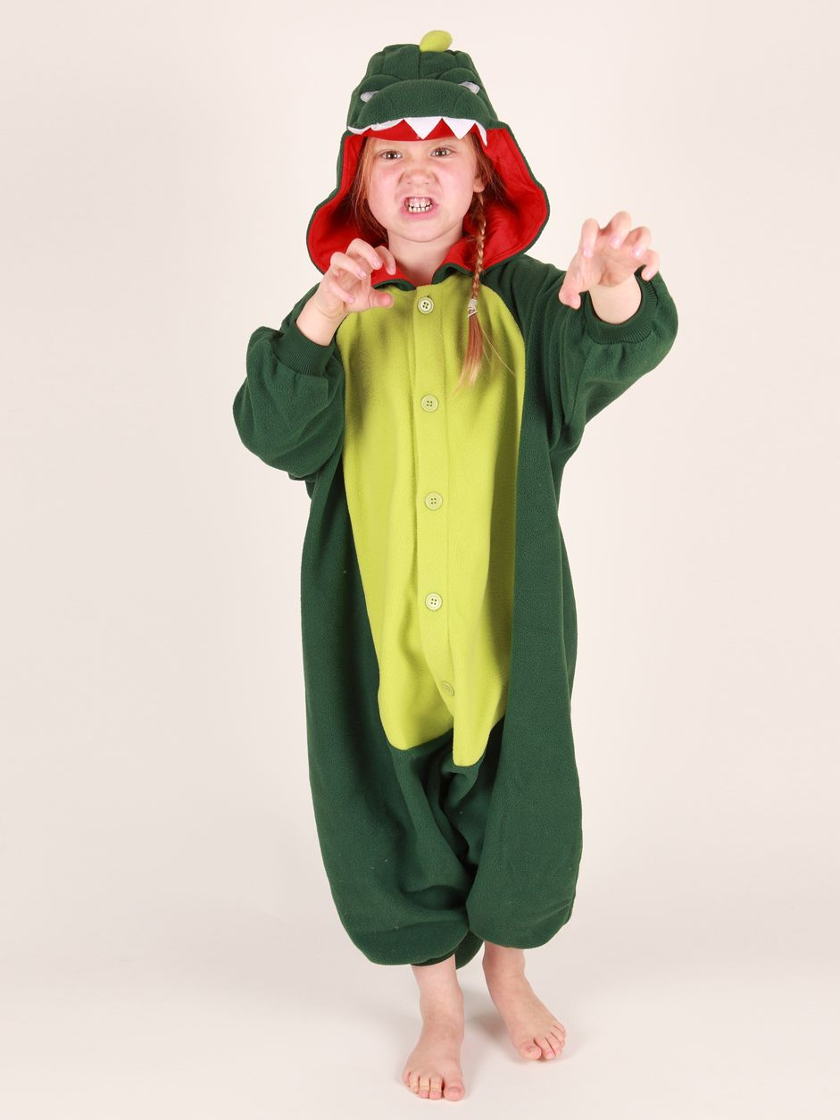 Kigu Dinosaur Onesie, Green