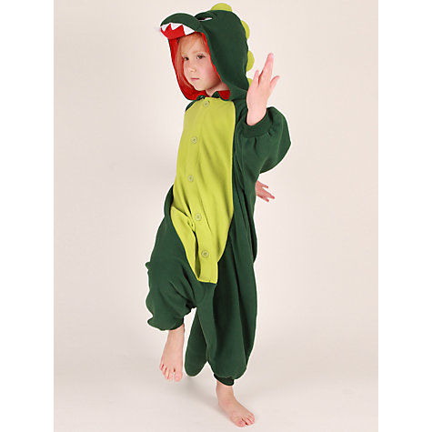 Buy Kigu Dinosaur Onesie, Green Online at johnlewis.com