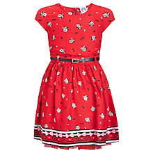 Buy Yumi Girl Cat Dress, Red Online at johnlewis.com