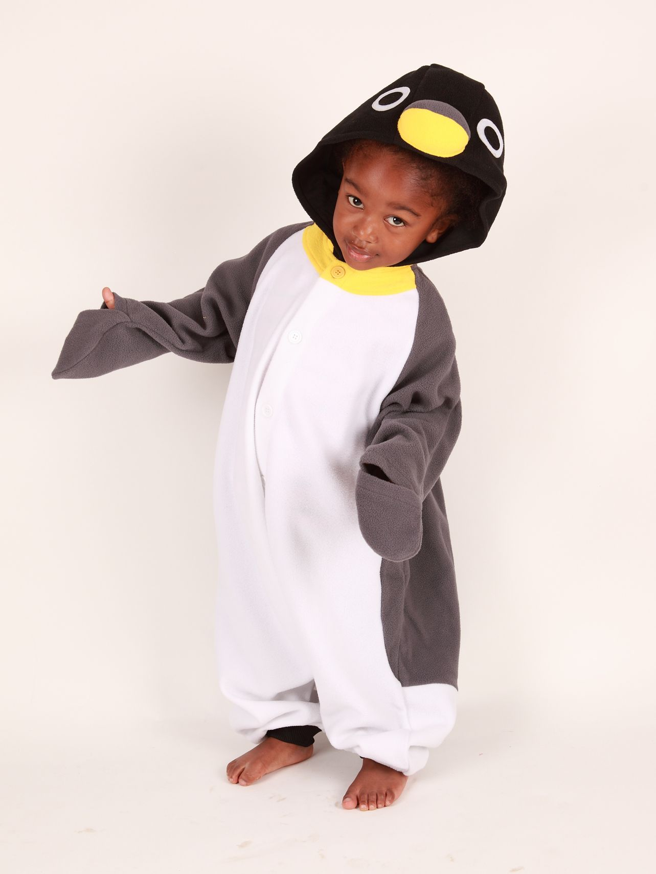 Kigu Penguin Onesie, Grey