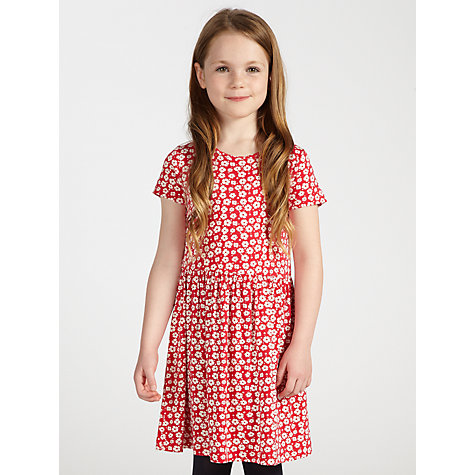 Buy Loved & Found Girls' Floral Drop Waist Dress, Red Online at johnlewis.com