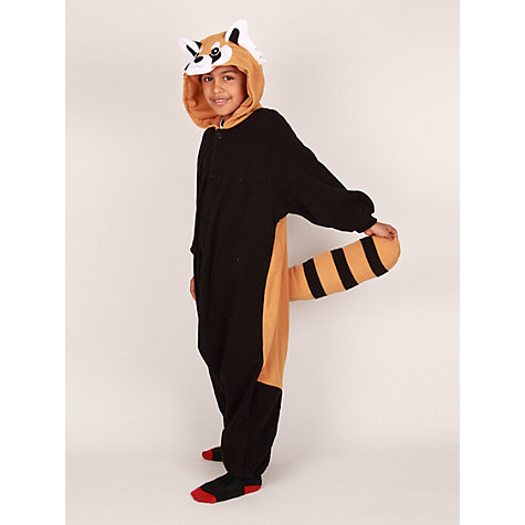 Buy Kigu Red Panda Onesie, Black/Brown Online at johnlewis.com