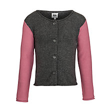 Buy Kin by John Lewis Girls' Colour Block Cardigan, Grey/Pink Online at johnlewis.com