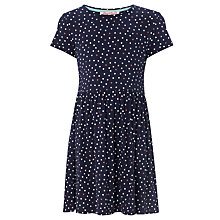 Buy Loved & Found Girls' Spot Drop Waist Dress, Navy Online at johnlewis.com