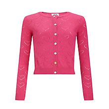 Buy Yumi Girl Woodland Cardigan, Pink Online at johnlewis.com