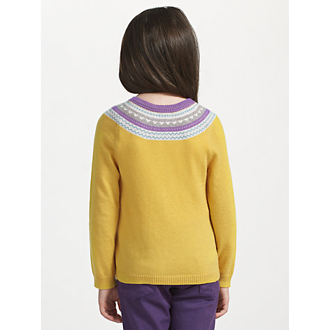 Buy John Lewis Girl Fair Isle Cardigan, Yellow Online at johnlewis.com
