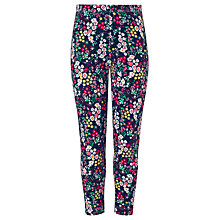 Buy John Lewis Girl Floral Leggings, Navy Online at johnlewis.com