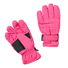 Buy John Lewis Girl Heart Ski Gloves, Pink Online at johnlewis.com
