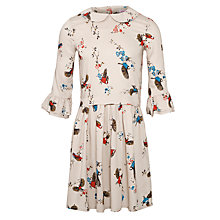 Buy John Lewis Girl Bird Print Dress, Multi Online at johnlewis.com