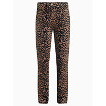 Buy John Lewis Girl Leopard Print Trousers, Brown Online at johnlewis.com