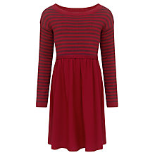 Buy John Lewis Girl Half Knit Dress, Red Online at johnlewis.com