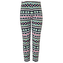 Buy John Lewis Girl Jacquard Leggings, Multi Online at johnlewis.com