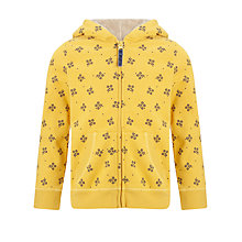 Buy John Lewis Girl Ditsy Hoodie, Yellow Online at johnlewis.com