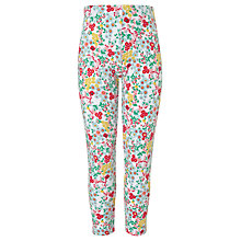 Buy John Lewis Girl Floral Leggings, Cream/Multi Online at johnlewis.com