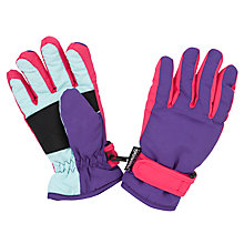 Buy John Lewis Girl Colourblock Ski Gloves, Multi Online at johnlewis.com