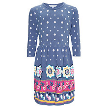 Buy John Lewis Girl Border Print Dress, Blue Online at johnlewis.com