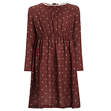 Buy John Lewis Girl Spotted Twill Dress, Brown Online at johnlewis.com