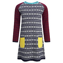 Buy John Lewis Girl Aztec Knit Dress Online at johnlewis.com