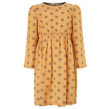 Buy John Lewis Girl Floral Dress, Yellow Online at johnlewis.com