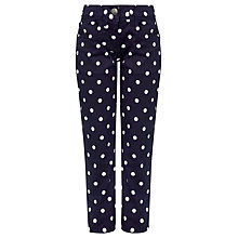 Buy John Lewis Girl Spotted Trousers, Navy Online at johnlewis.com