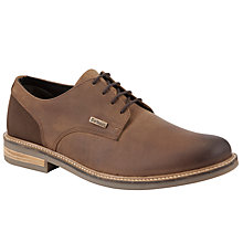 Buy Barbour Cottam Leather Derby Shoes, Dark Tan Online at johnlewis.com